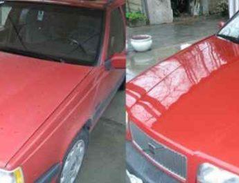 до и после полировки кузова
