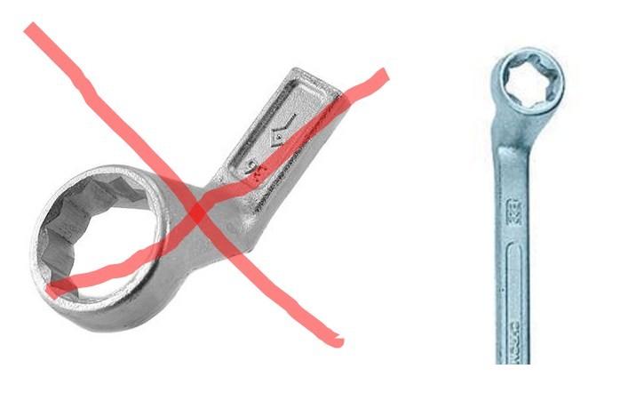 правильный накидной ключ