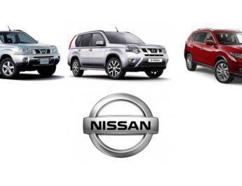 3 поколения Nissan x-trail