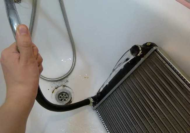 промывка радиатора водой
