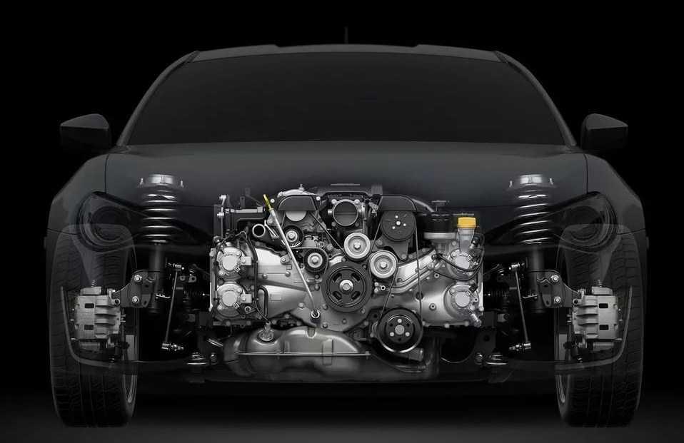 низкий центр тяжести - преимущество машины с оппозитным двигателем