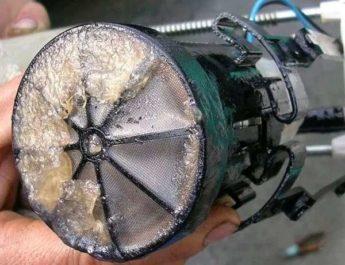 пример забитого топливного фильтра