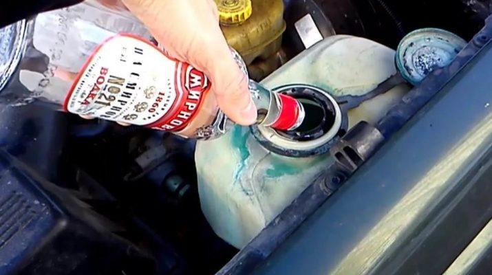 Замерзла вода в бачке омывателя, что делать?