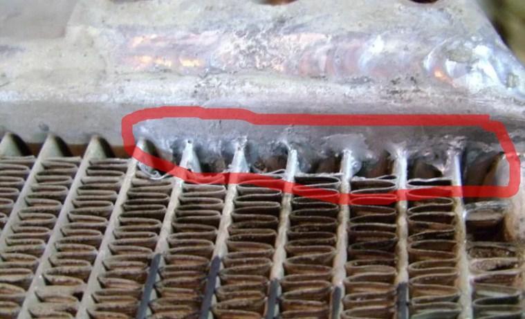 запаянный радиатор