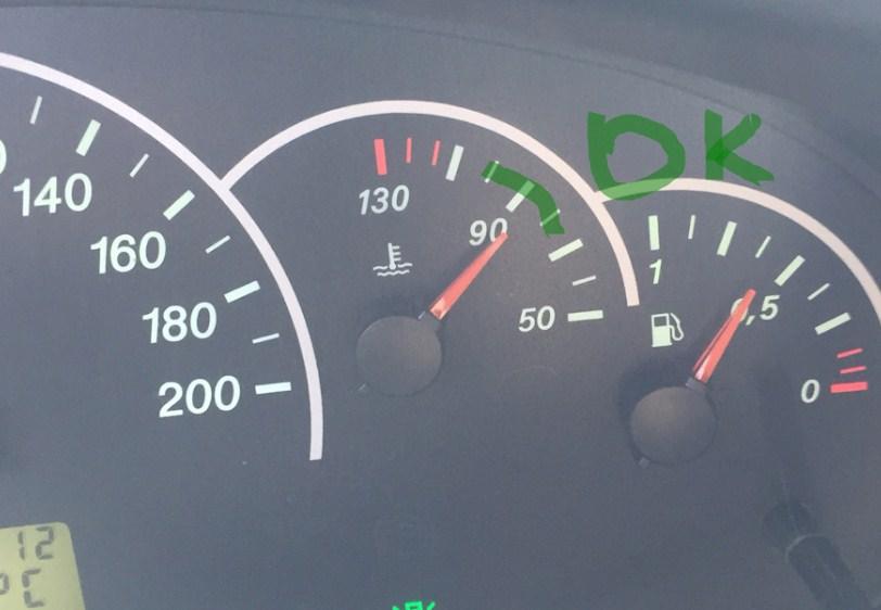 температура двигателя в допуске