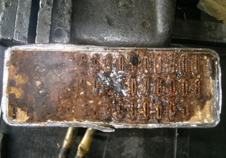 радиатор забит грязью