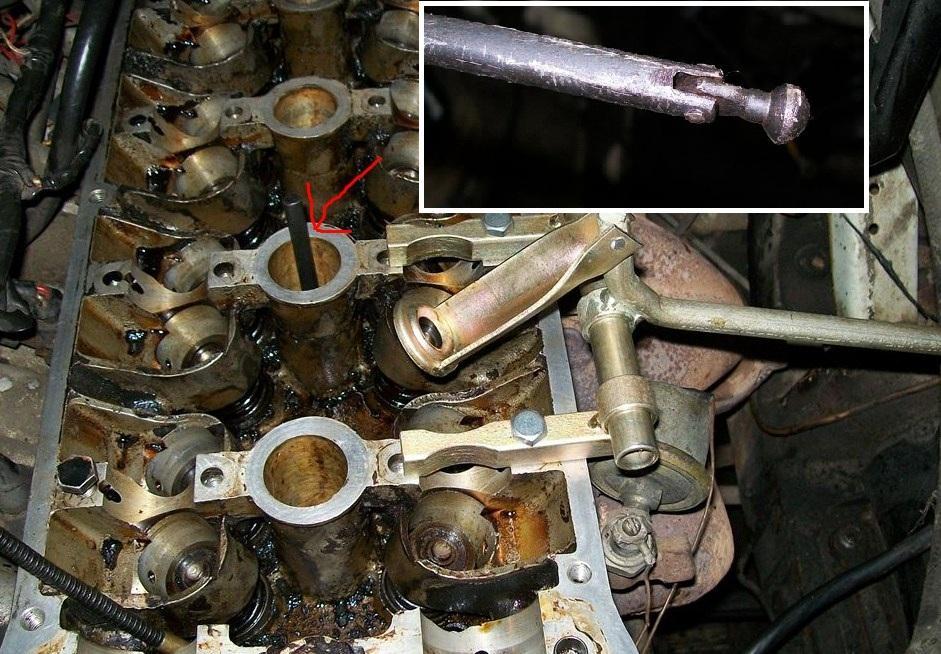 приспособление для фиксации клапанов в 16ти клапанных двигателях