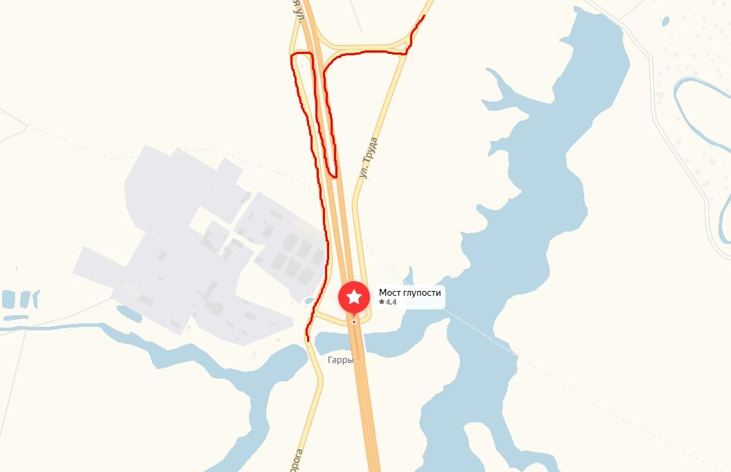 карта как объехать мост глупости на грузовике