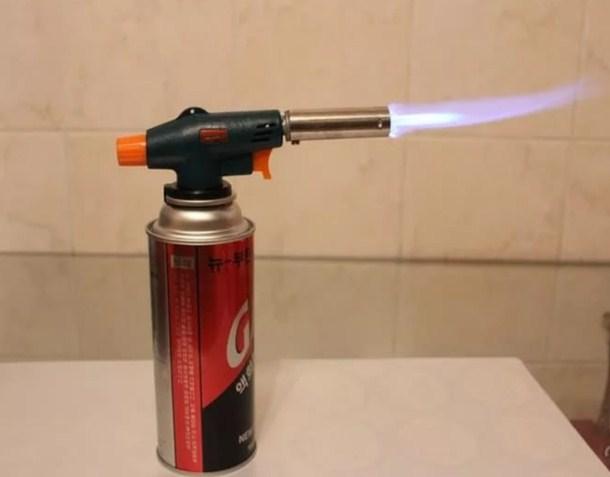 горелка газовая - греем гайку для откручивания