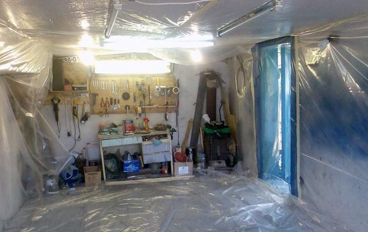 в этом гараже можно красить