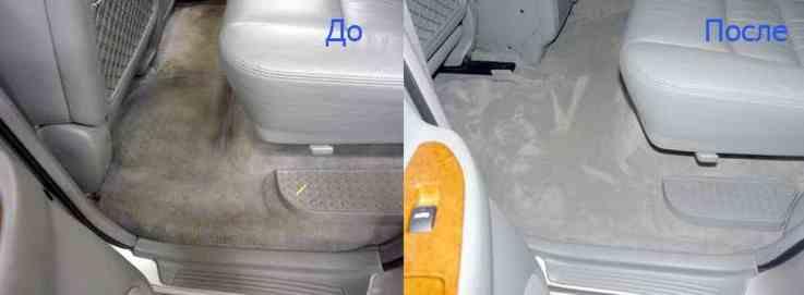 предпродажная химчистка салона до и после