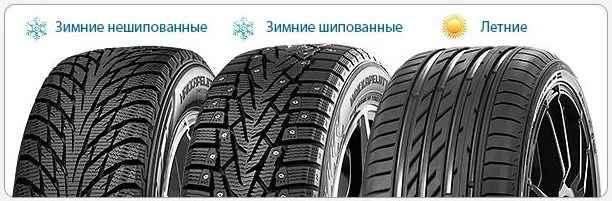 чем отличаются летние, зимние и шипованые шины