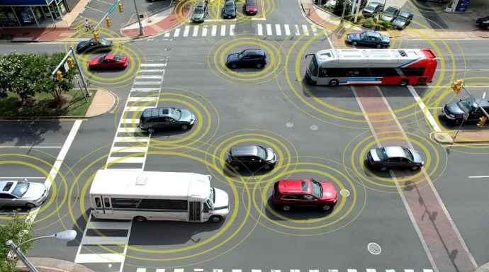 автомобили в общей сети.