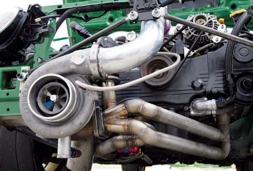 турбонаддув оппозитного двигателя