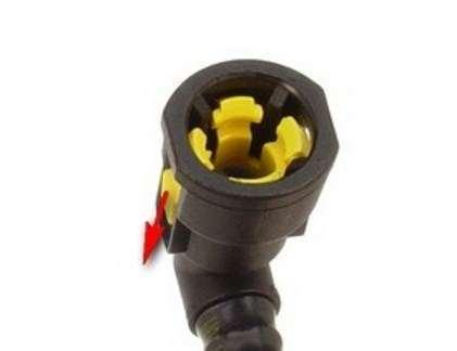 устройство быстросьемного разъема топливной трубки mercedes