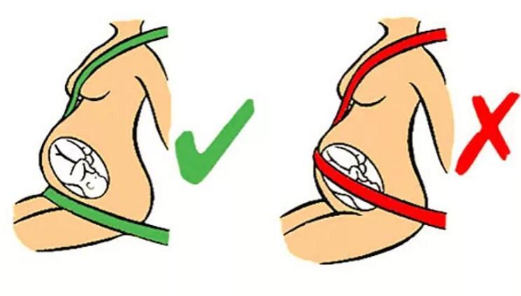 положение ремня безопасности при беременности